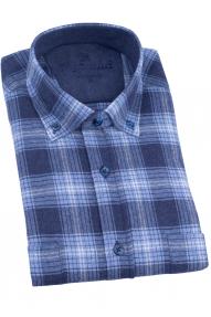 Сорочка мужская REVALDI T 383-1 (синяя клетка)