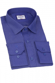 Сорочка мужская Bazzelli 4005-1CRD (тёмно-синий)