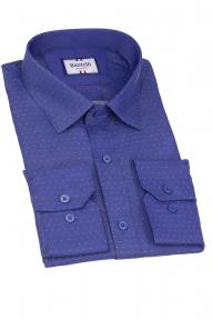 Сорочка муж. Bazzelli 4005-1CRD (тёмно-синий)