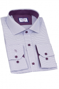 Сорочка мужская Bazzelli 4048-4CRD (светло-фиолетовый)