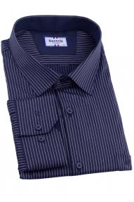 Сорочка мужская Bazzelli 4081-BT-3CRC (тёмно-синий в белую полоску)