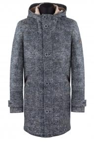 "Пальто мужское Van Cliff A50073 ""Уилисс"" (серый меланж)"