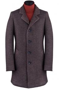 """Пальто мужское Van Cliff A50066 """"Гаррет"""" (коричневый меланж)"""