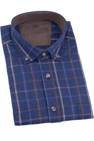 Сорочка мужская PICALINO 508-2 (синяя клетка)