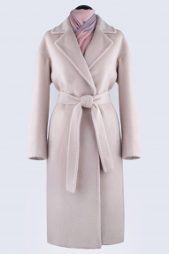 Пальто женское из Альпаки KROYYORK 515L (жемчужно белый)