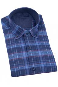 Рубашка мужская REVALDI 519-4 (синий)
