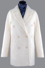 Пальто женское из Альпаки KROYYORK 519L (молочный)