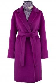 Пальто женское из Альпаки KROYYORK 521L (фуксия)