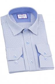 Сорочка мужская Bazzelli 6034-1CRD 2020 (бело-голубой)