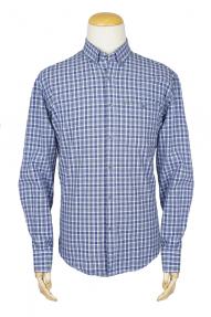 Рубашка мужская BIGNESS (Синяя клетка) 667464