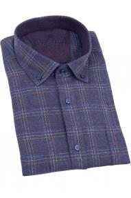 Рубашка мужская REVALDI A-7318-4 (баклажановый)