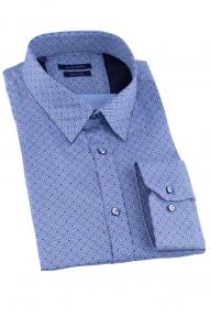 Сорочка мужская CLIMBER 820-1046 (голубой с принтом)