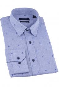 Сорочка мужская CLIMBER 820-1225 (голубой с принтом)