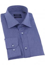 Сорочка мужская CLIMBER 820-1248 (синий с принтом)