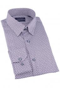 Сорочка мужская CLIMBER 828-1083 (белый в бордовый ромб)