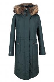Пальто зимнее женское Technology (арт. 851 CD) темно-зеленый