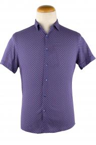 Сорочка мужская Semсo 8800 norma (фиолетовый, голубой, бордовый)