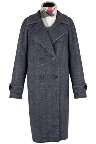 Пальто женское ZARYA GROUP M-889/5 (чёрно-белое)