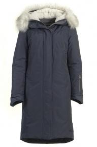Куртка женская Technology 891C (темно-синий) с мехом