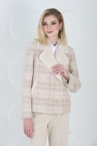 Пальто женское ZARYA GROUP M-912/2 (кремовый-молоко)