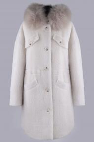 Пальто женское зимнее ZARYA GROUP M-919У/1 (молоко)