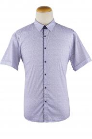 Сорочка мужская Semсo 9256 (белый,синий принт)