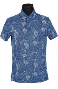 Рубашка поло мужская Bosmenti 9840 (синий с рисунком)