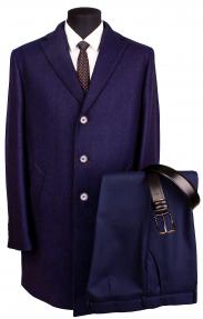 """Мужское пальто FORREMANN A57466 """"Блавин Неви"""" темно-синий"""