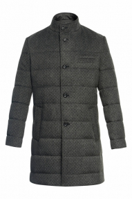 Пальто-пуховик «Alexander» M-501-2020 (серый меланж)