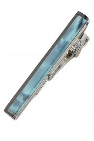 Зажим для галстука (переливающийся бирюзовый)