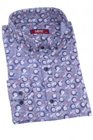 Сорочка мужская MCR 37427 (серый с принтом)