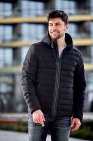 Куртка мужская еврозима Scanndi DM19019 (чёрно-синяя)