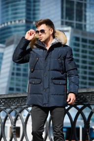 Куртка мужская Scanndi (темно-синий) DM19091q с мехом