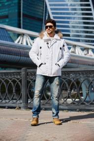 Куртка мужская Scanndi (белый)  DM19098a