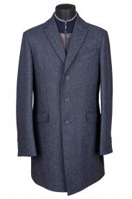"Пальто мужское Van Cliff (арт. A57724 ""Империо"") черно-серый меланж"