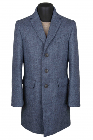 "Пальто мужское Van Cliff (арт. A57343 ""Бостон"") темно-голубой меланж"