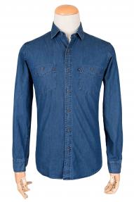 Рубашка муж. Erten (арт.02396) темно-синяя