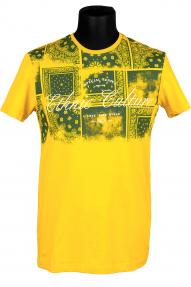 Футболка NCS 1358 (желтая с принтом)