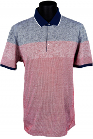 Рубашка поло мужская White House 171731 (винно-красная с синим)