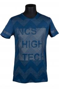 Футболка NCS 1477 (темно-синий с принтом)