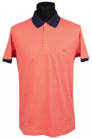 Рубашка поло FLP 0733 (коралловый с принтом)