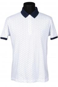 Рубашка поло FLP 0733 (белая с принтом)