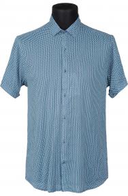 Сорочка FLP 46220 (бирюзовый с орнаментом)