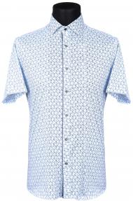 Сорочка FLP 46610 (светло-голубой с орнаментом)