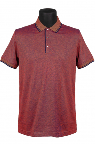 Рубашка поло мужская BOSMENTI 9780 (темно-бордовый)