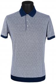 Рубашка поло мужская Mennsler 020110 (светло-серый с принтом)