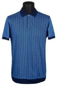 Рубашка поло мужская BOSMENTI 9730 (темно-синий с орнаментом)