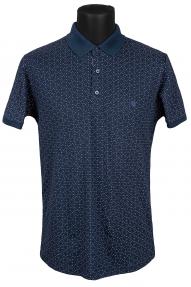 Рубашка поло FLP 0733 (темно-синий с принтом)