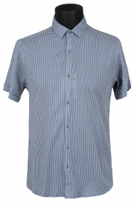 Сорочка FLP 46220 (темно-синий с орнаментом)