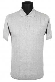 Рубашка поло мужская Bosmenti 25566 (светло-серый)